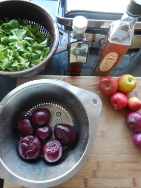 I used boiled peeled beets
