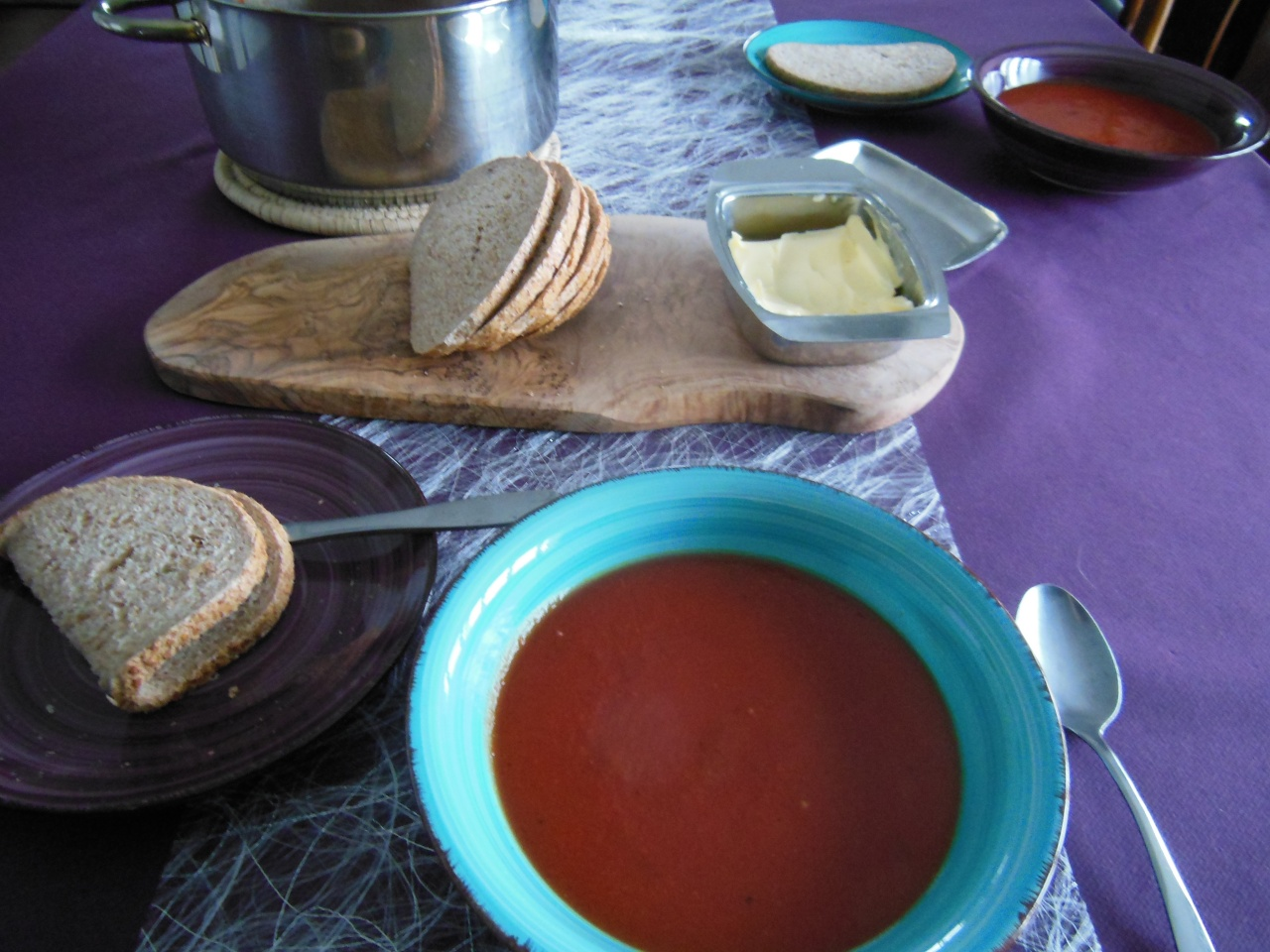 Red beet and pumpkin soup