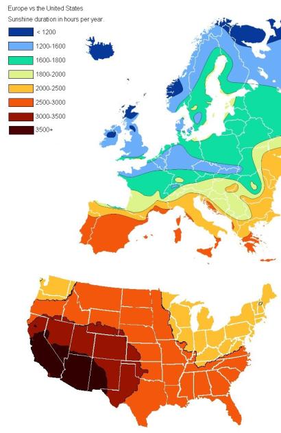 sunlight USA Europe